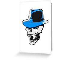 Skull evil hat Greeting Card
