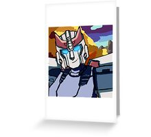 Blue streaks of silver Greeting Card