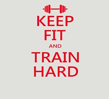 KEEP FIT and TRAIN HARD (RED) Unisex T-Shirt