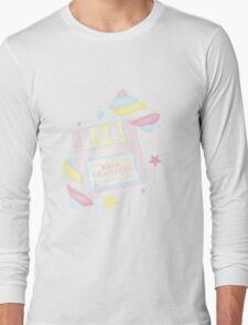 Mahou Shoujo: Retro Marshmallow Long Sleeve T-Shirt