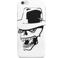 Skull evil hat iPhone Case/Skin