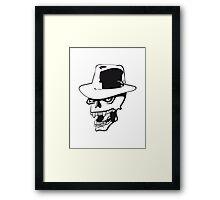Skull evil hat Framed Print