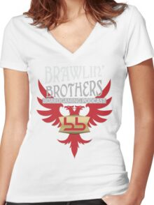 Brawling Brothers Design 2 Women's Fitted V-Neck T-Shirt