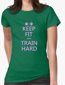 KEEP FIT and TRAIN HARD (pink) T-Shirt