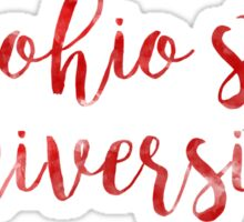 The Ohio State University Watercolor Sticker