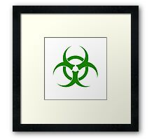 Biohazard - Green Framed Print