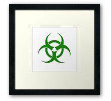 Biohazard - Green Framed Print
