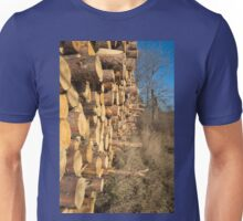 A Stack of Wood Unisex T-Shirt