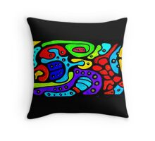 Chicago Swirl Throw Pillow
