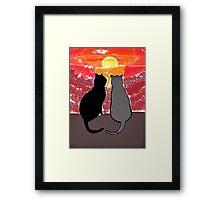 Sunset Cats Framed Print