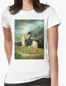 Francisco De Goya  - Portrait Of Maria Teresa De Vallabriga On Horseback. Animal portrait: cute cat, horse, race, man hobby, running, wild life, animal, racing mustang, hunt, cowboy, sport Womens Fitted T-Shirt