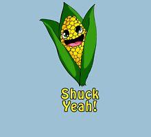 Shuck Yeah! Cute corn. Womens Fitted T-Shirt