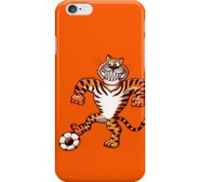 Tiger Stepping on a Soccer Ball and Preparing a Free Kick iPhone Case/Skin