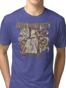 Queen of Hearts Carnivale Style - Gold Version Tri-blend T-Shirt