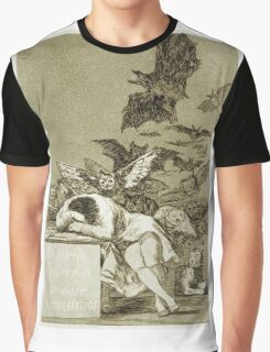 Francisco De Goya  - The Sleep Of Reason Produces Monsters. Bird painting: cute fowl, fly, wings, lucky, pets, wild life, animal, birds, little small, bird, nature Graphic T-Shirt