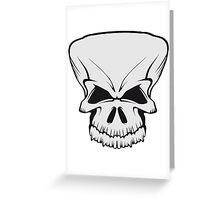 Skull evil Greeting Card