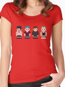 Red Hot Chili Peppers Pixel Art Women's Fitted Scoop T-Shirt