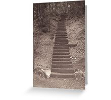 Long Stairs Greeting Card