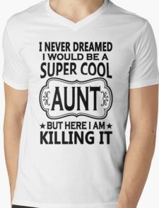 Super Cool Aunt  Mens V-Neck T-Shirt
