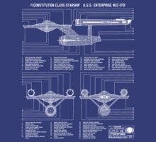 Star Trek - U.S.S. Enterprise NCC-1701 by PowJones