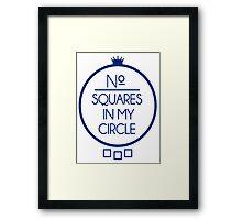 No Squares Yankee Blue Framed Print