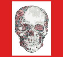 skulls flowers One Piece - Short Sleeve
