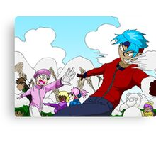 Raiden Legacy - Snowball Fight Canvas Print