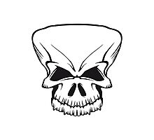 Skull evil Photographic Print