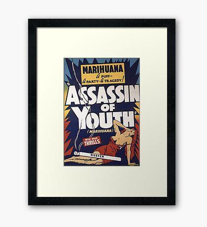 Marihuana Assassin of Youth Framed Print