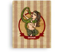 Cirque D'Burlesque: The Snake Charmer Canvas Print