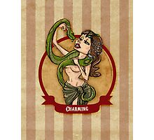 Cirque D'Burlesque: The Snake Charmer Photographic Print