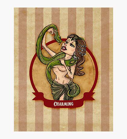 Cirque D'Burlesque: The Snake Charmer Photographic Print