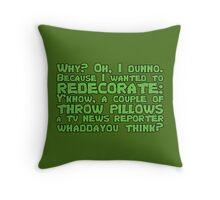 Redecorating with Throw Pillows Throw Pillow