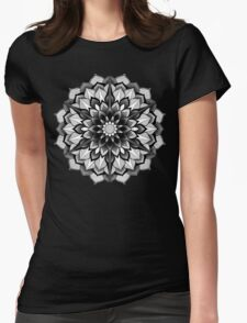 Mandala Hex Void Womens Fitted T-Shirt