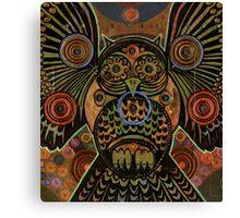 Big Bronze Owl Canvas Print