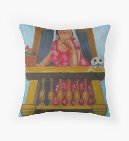 Spanish beauty. Throw Pillow