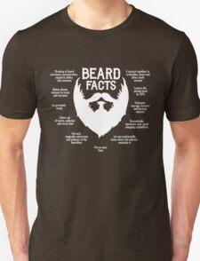 Beard Facts (white) Unisex T-Shirt