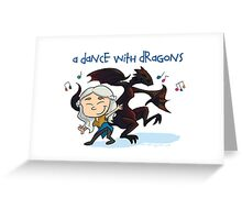 A Dance With Dragons Greeting Card