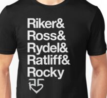 R5 Names (Black and White) Unisex T-Shirt