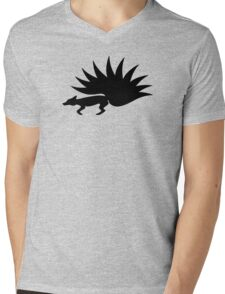 NARUTO: Nine-Tails Kurama Star Fox Logo - Black Mens V-Neck T-Shirt