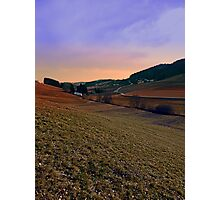 Beautiful valley scenery in the evening | landscape photography Photographic Print