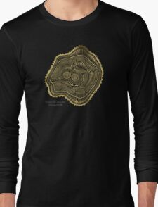 Peachleaf Willow – Gold Tree Rings Long Sleeve T-Shirt