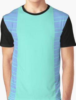 Blue stripey Graphic T-Shirt