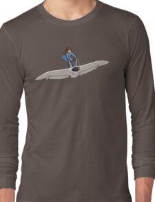 """Nausicaa on her """"Mehve"""" glider Pixel Art Long Sleeve T-Shirt"""