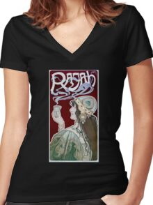 Rajah by Henri Privat-Livemont (Reproduction) Women's Fitted V-Neck T-Shirt
