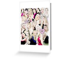 Jennifer Morrison Collage Greeting Card