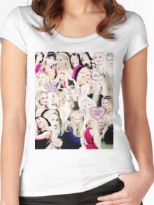 Jennifer Morrison Collage Women's Fitted Scoop T-Shirt