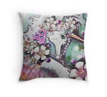 Decorated unicorn of the Sea Pillow Throw Pillow
