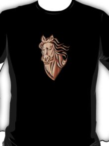 Horse - Wood Carved T-Shirt