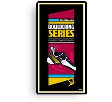 Bouldering world cup series_India Canvas Print